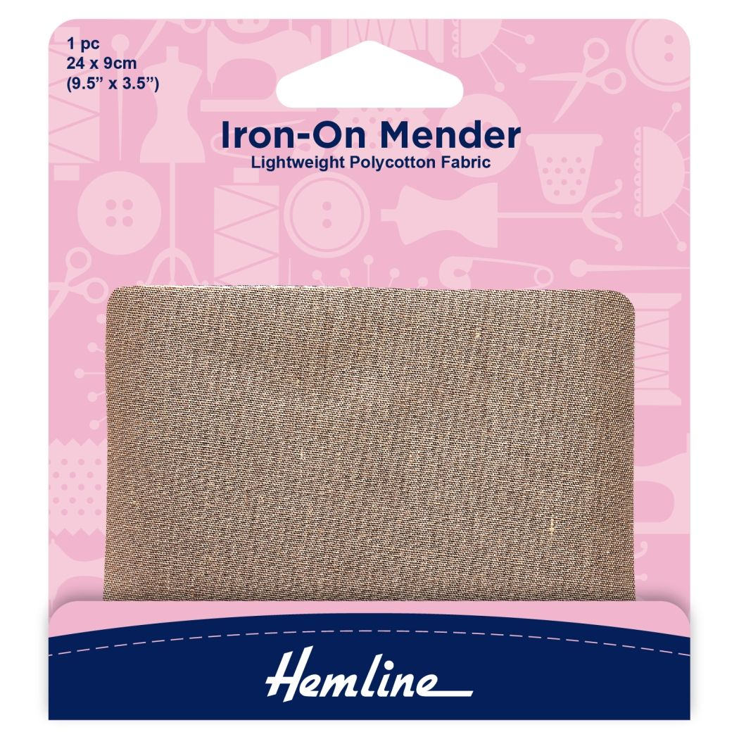 Hemline Polycotton Patch - Fawn - 24 x 9cm - 1 Piece