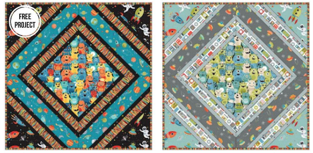 Makower - Outer Space - Cushion Pattern - Free Instant Download