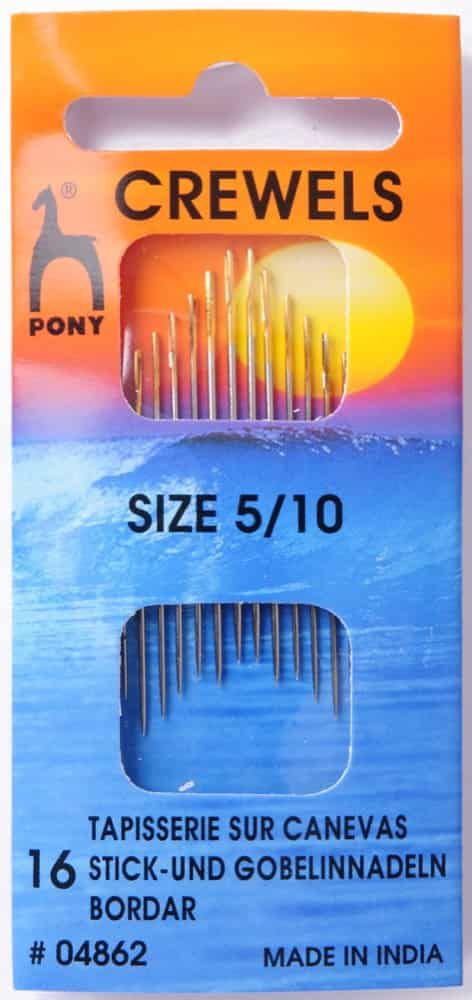 Pony Gold Eye Sewing Needles - Crewels - Size 5-10