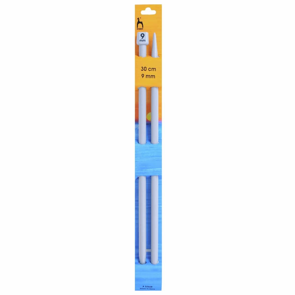 Pony Classic Pair Of Single Ended Knitting Pins - 30cm x 9mm