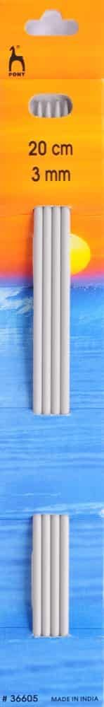 Pony Classic Set Of 4 Double Ended Knitting Pins - 20cm x 3mm