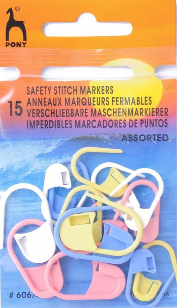 Pony Safety Stitch Markers - Assorted Sizes & Colours