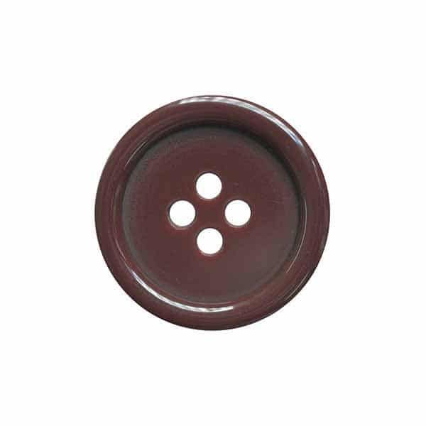 4 Hole Round Coat / Clothing Button - Burgundy - 44.5mm / 70L