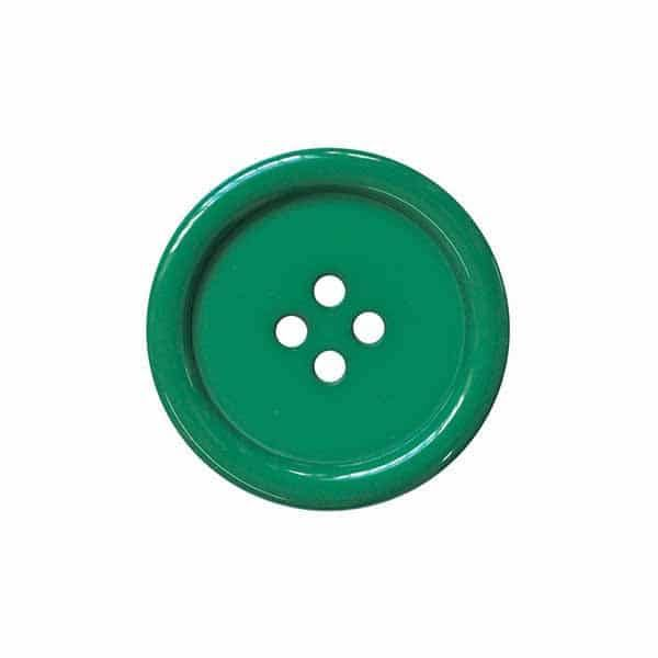 4 Hole Round Coat / Clothing Button - Green - 44.5mm / 70L