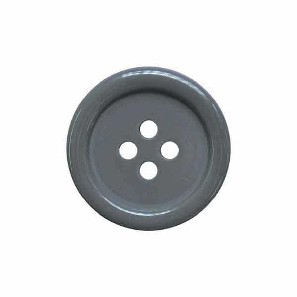 4 Hole Round Coat / Clothing Button - Grey - 28mm / 44L