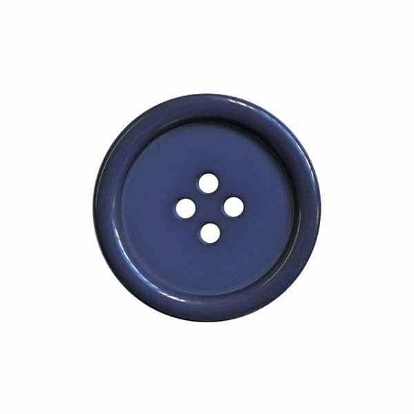 4 Hole Round Coat / Clothing Button - Light Navy - 44.5mm / 70L