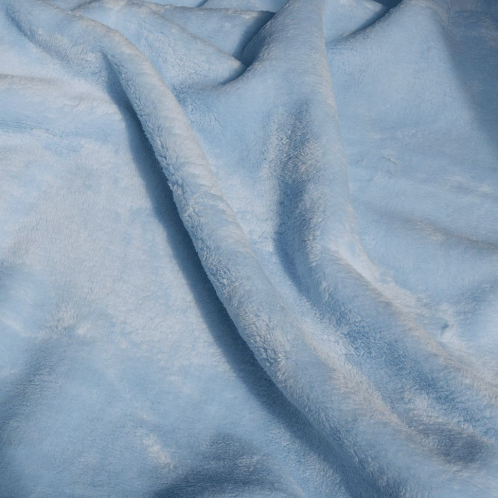Double Sided Cuddle Fleece - Pale Blue