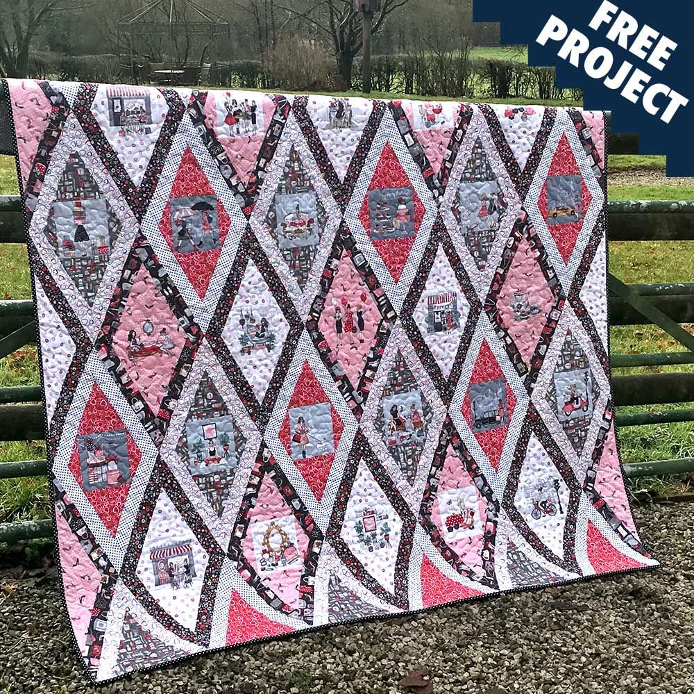Makower - Pamper - Free Quilt Pattern
