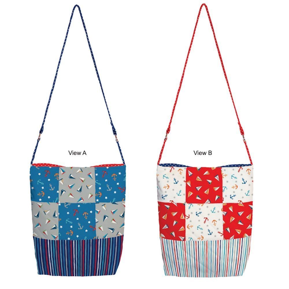 Makower - Beside The Sea - Every Day Patchwork Bags - Free Instant Download