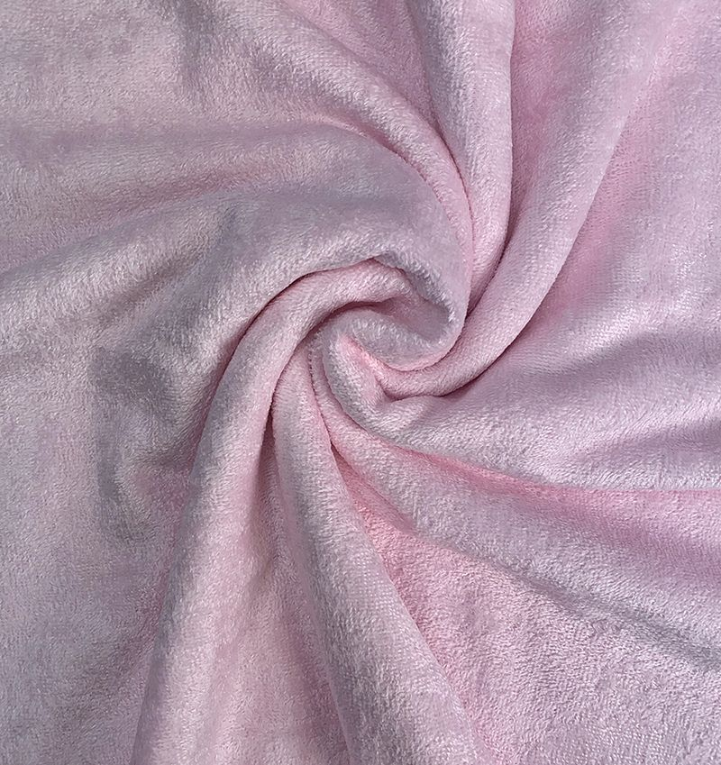 Remnant -Premium Pink Bamboo Terry Towelling - 50 x 150cm