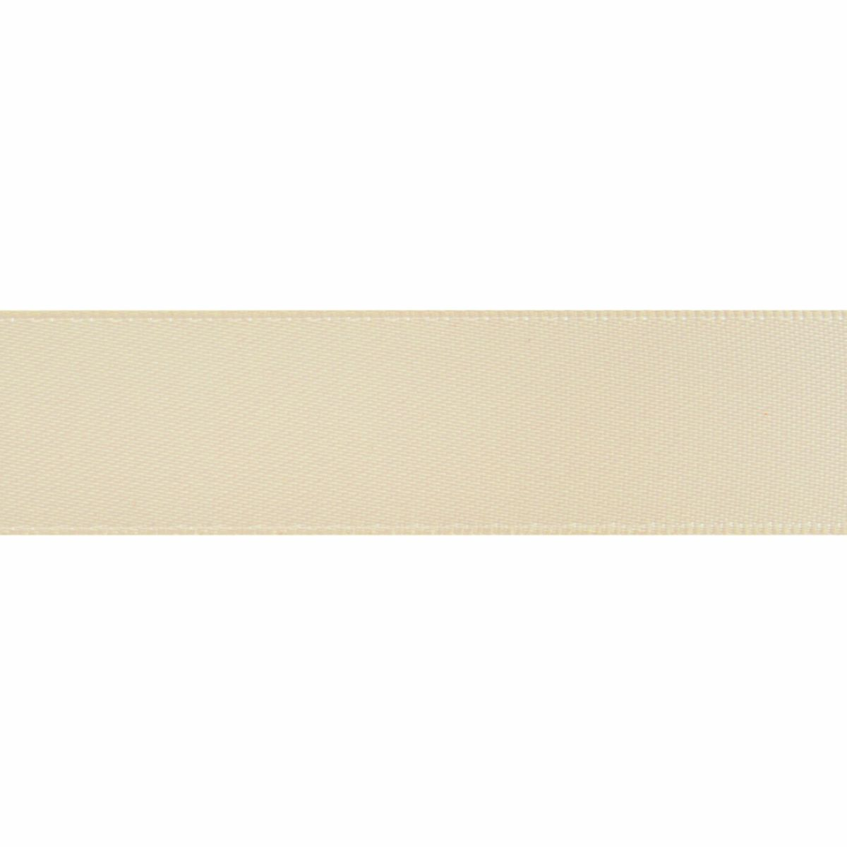 Cream Double Satin Ribbon 5m rolls from 3mm to 36mm wide
