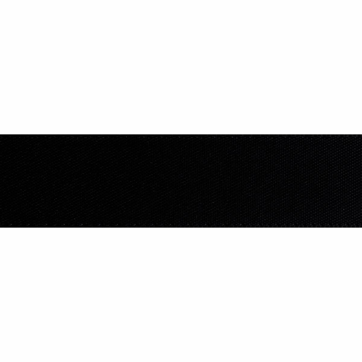 Black Double Satin Ribbon 5m rolls from 3mm to 36mm wide