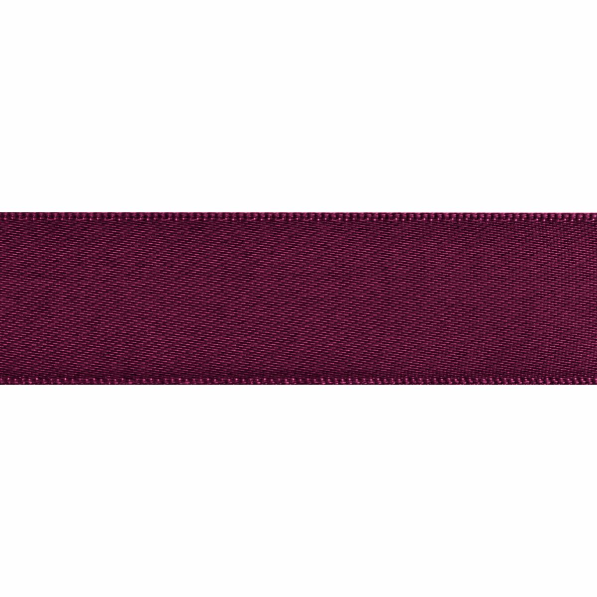 Wine Double Satin Ribbon 5m rolls from 3mm to 36mm wide