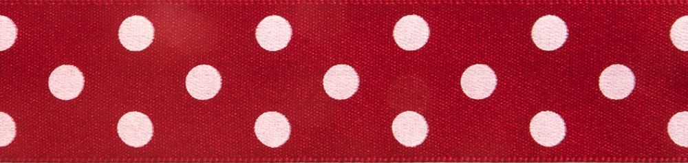 Berisfords - Polka Dot Ribbon - Red - 2 Widths