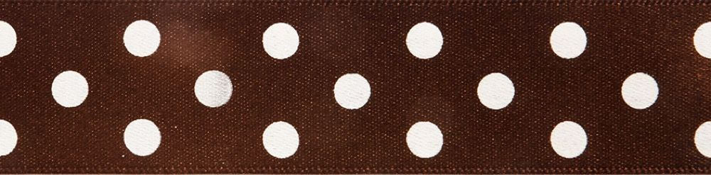Berisfords - Polka Dot Ribbon - Brown - 2 Widths