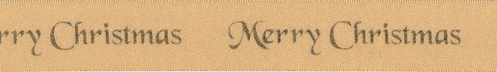 Berisfords Merry Christmas Ribbon - 25mm Wide - Gold