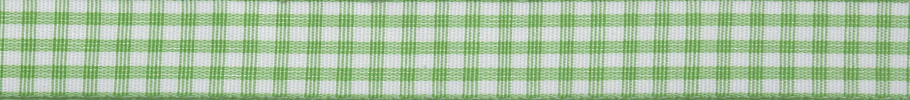 15mm Green Gingham Ribbon 5m Reel