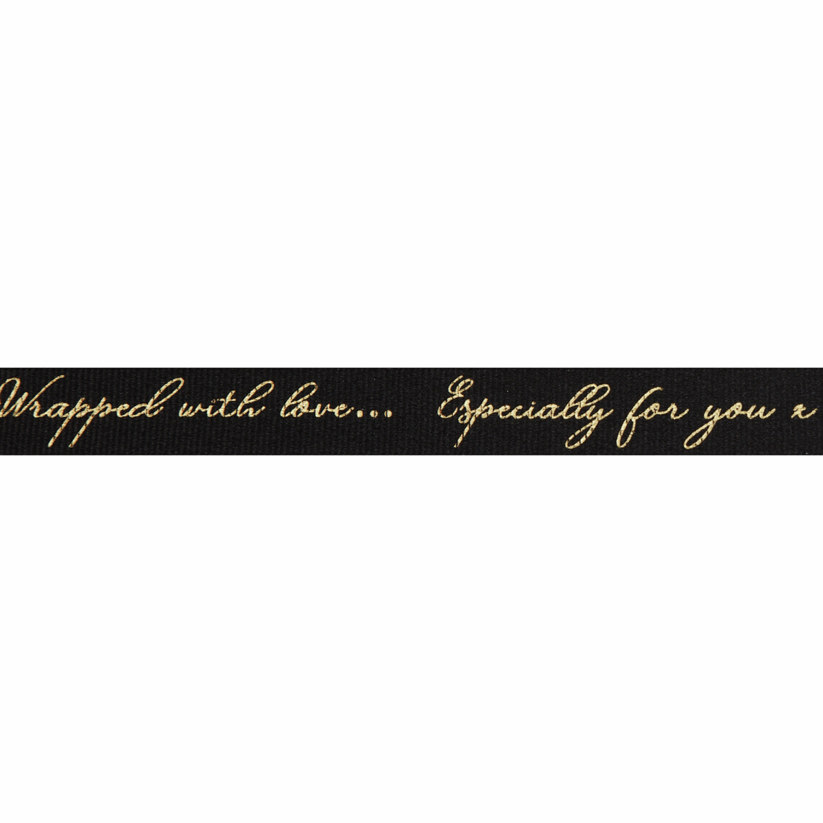 Berisfords Ribbon - Sparkle With Love - 16mm Wide - Black / Gold