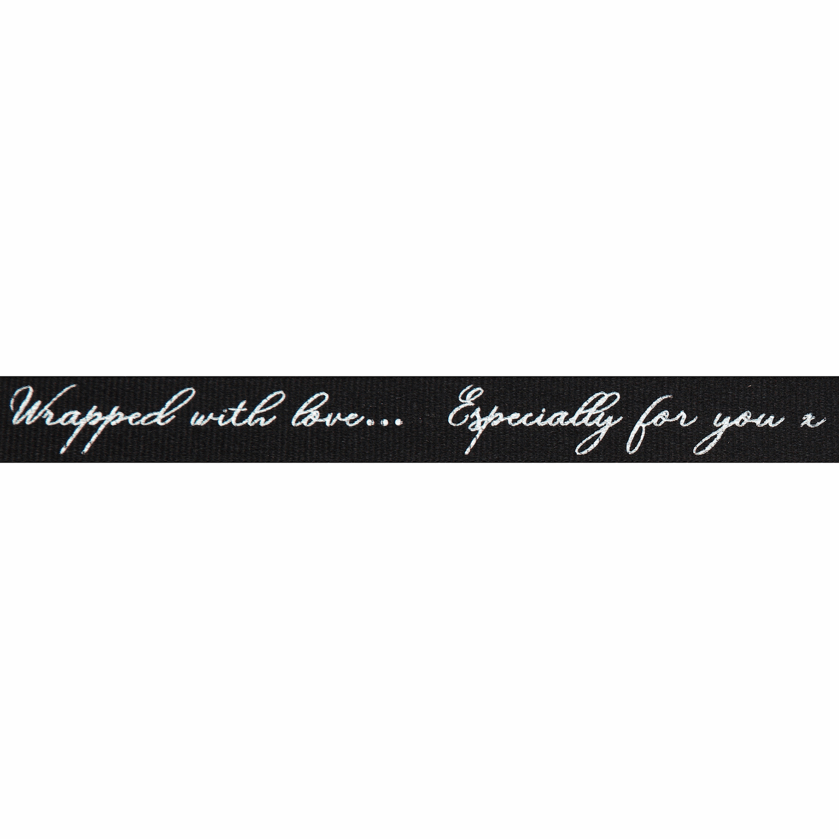 Berisfords Ribbon - Sparkle With Love - 16mm Wide - Black /  Silver