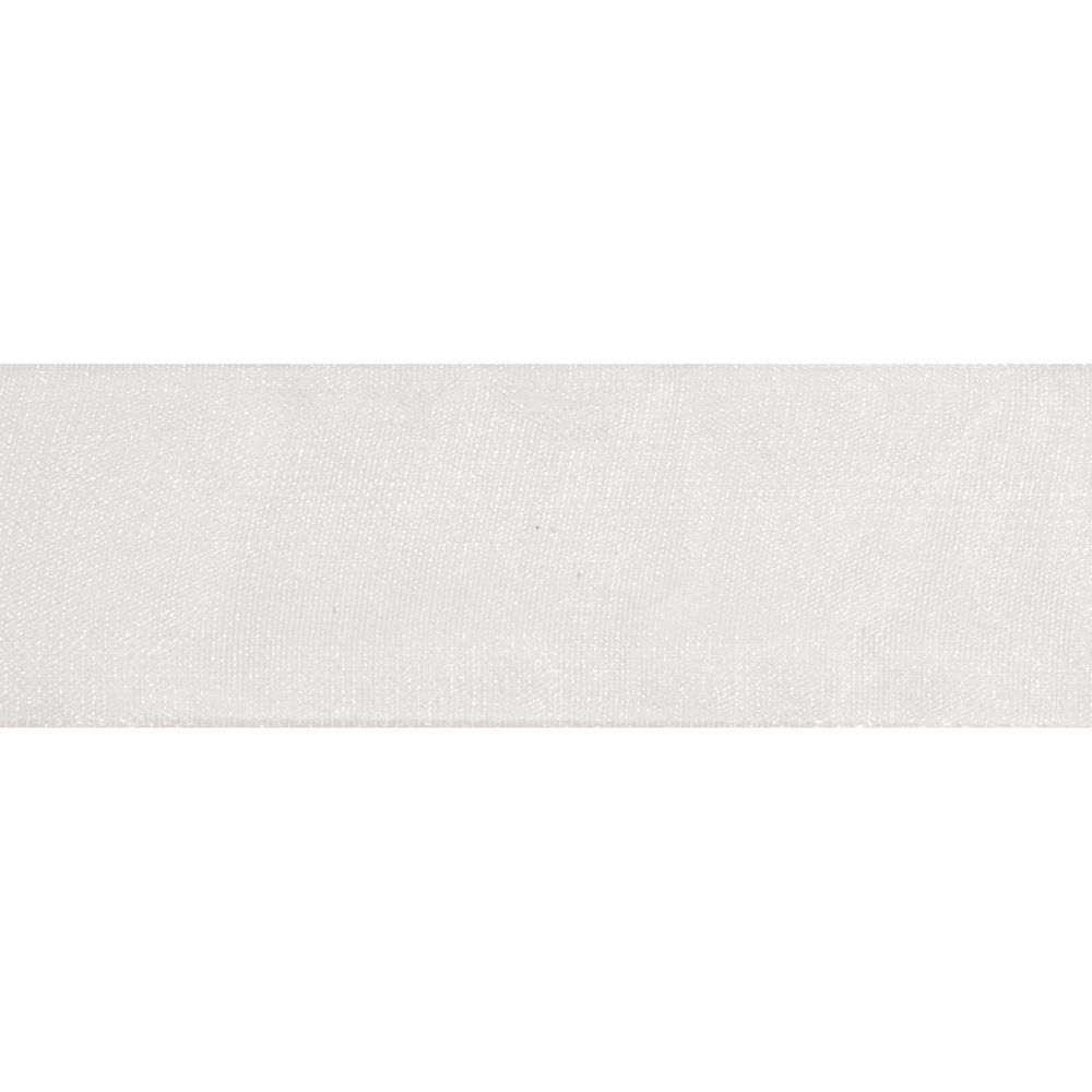 White Organdie Ribbon 5m Rolls 25mm and 36mm Wide