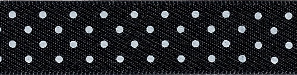 Berisfords - Micro Dot Ribbon - Black - 3 Widths