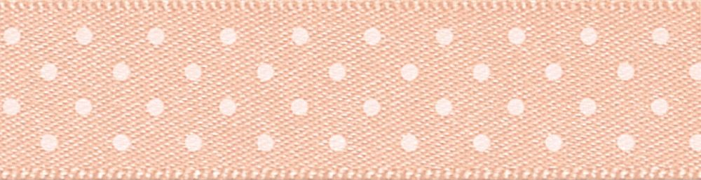 Berisfords - Micro Dot Ribbon - Peach - 3 Widths
