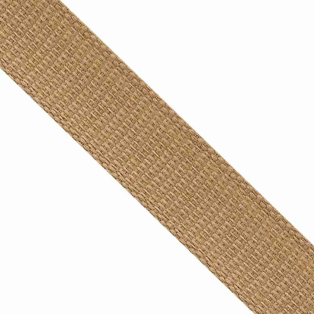 Hopsack / Hessian Effect Ribbon 15mm Wide Oatmeal
