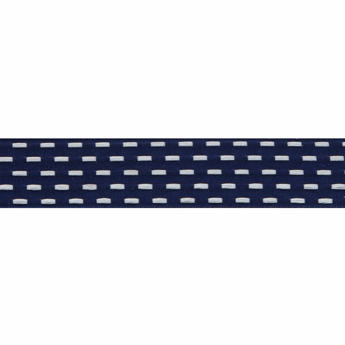 Berisfords Parallel Stitch Ribbon - 25mm Wide - Navy / White