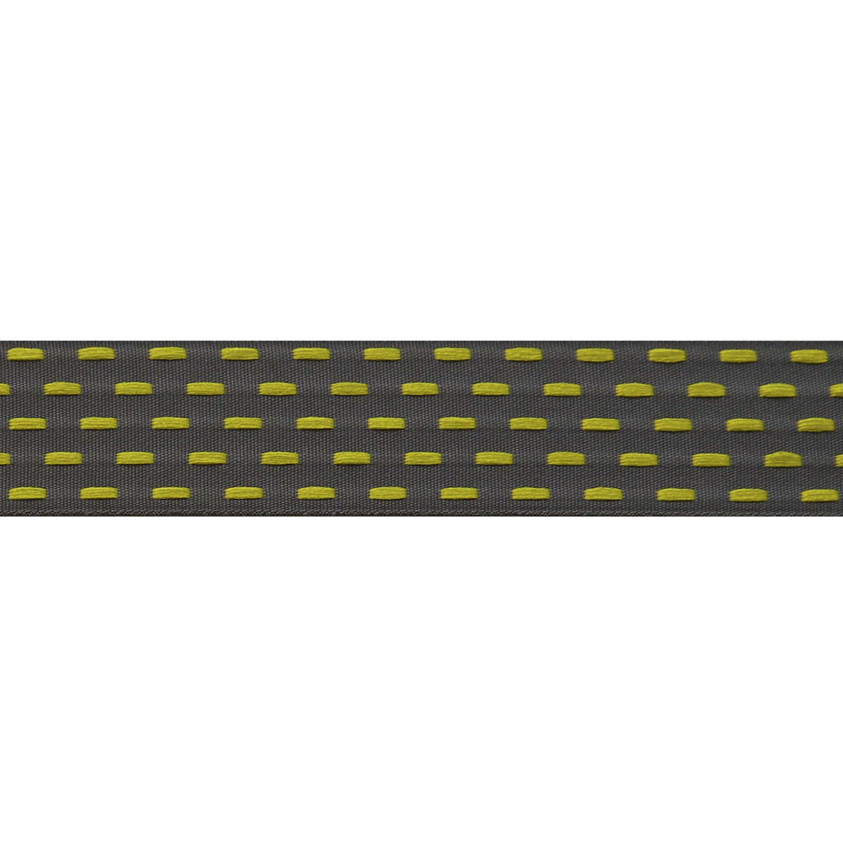 Berisfords Parallel Stitch Ribbon - 25mm Wide - Graphite / Sunflower