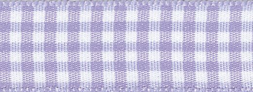 Berisfords - Gingham Ribbon - Orchid - 5 Widths