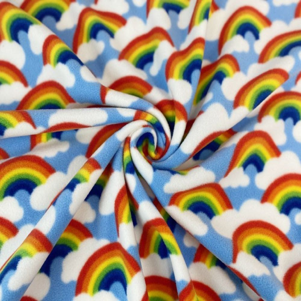 Rainbow And Cloud Premium Polar Fleece
