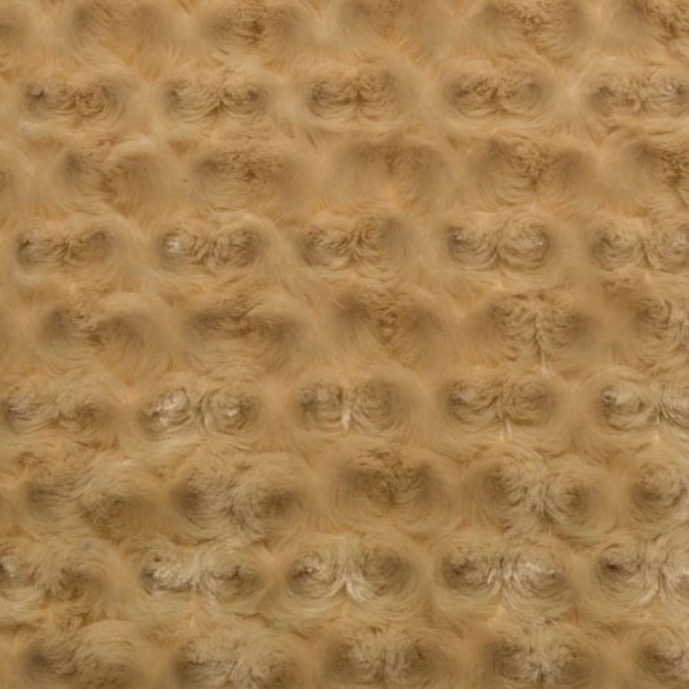 Shannon Luxe Cuddle Rose Plush Fabric - Camel