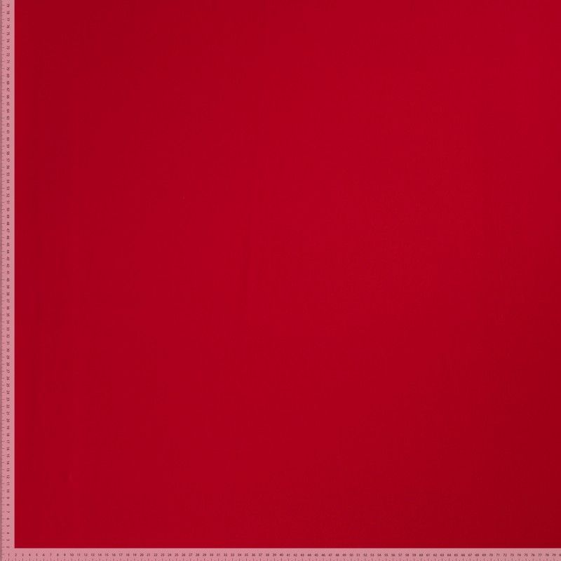 Remnant -Premium Ponte Roma Jersey - From Recycled Plastic Bottles - Red - 37 x 160cm - Flawed