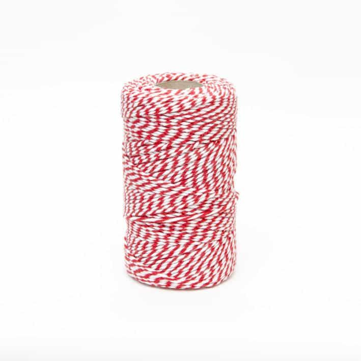 Bakers Twine Red & White - 10m Length