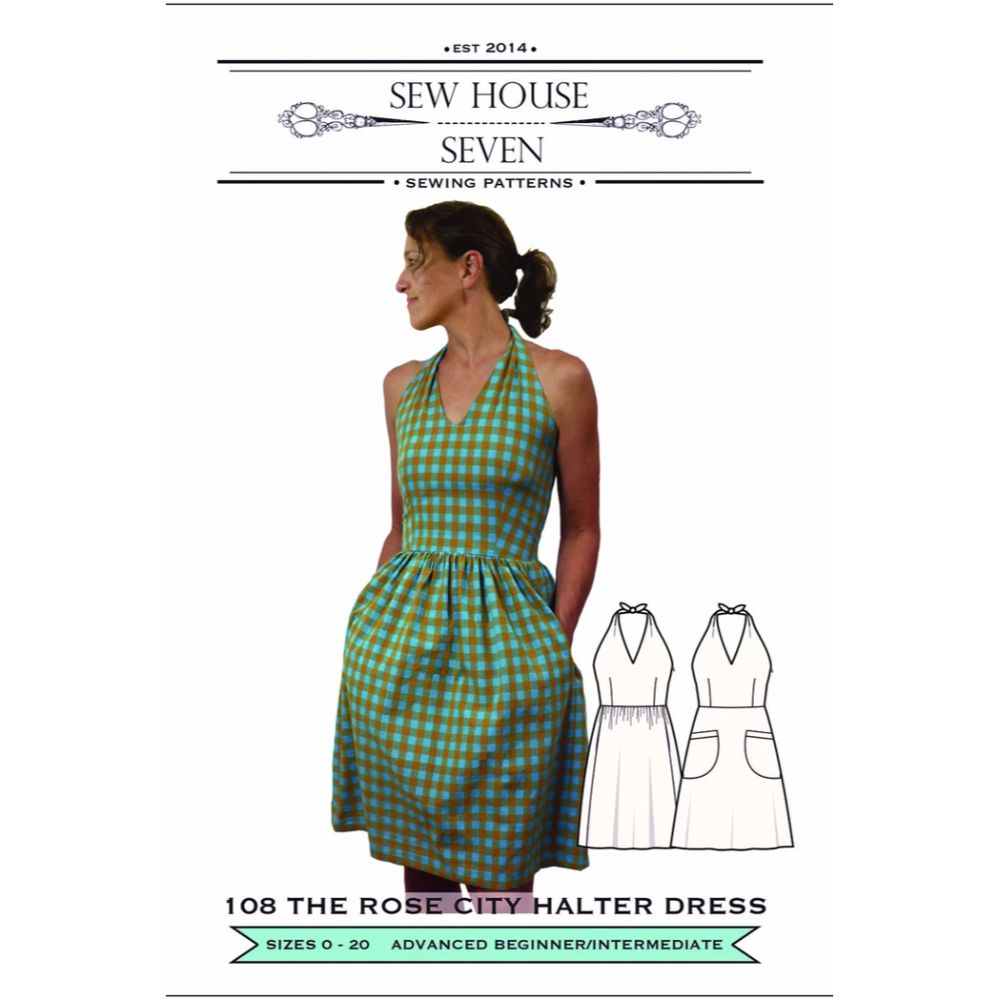 Sew House Seven -  Rose City Halter Dress Pattern