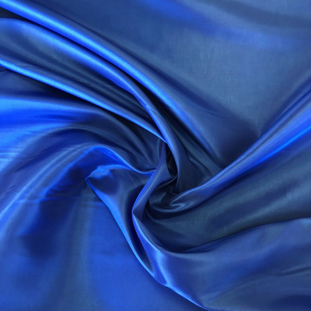 Remnant -Polyester Taffeta - Royal Blue - 80 x 145cm - Bolt End/Creased