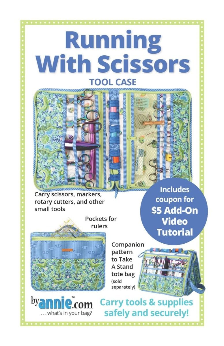 ByAnnie Sewing Pattern -  Running With Scissors Tool Case Pattern