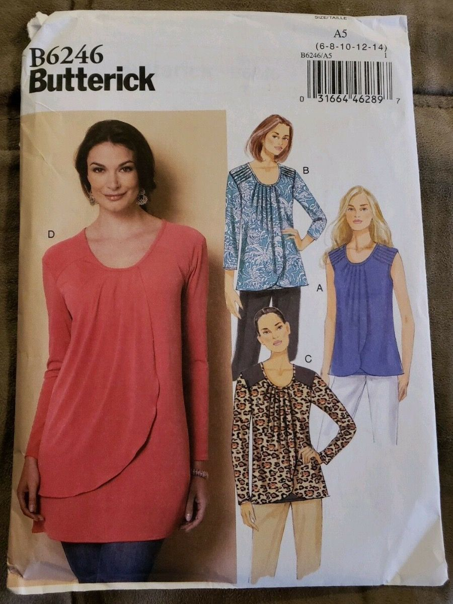 Remnant - Butterick Pattern B6246 - A5 - size 6 - 14 -  End of Line