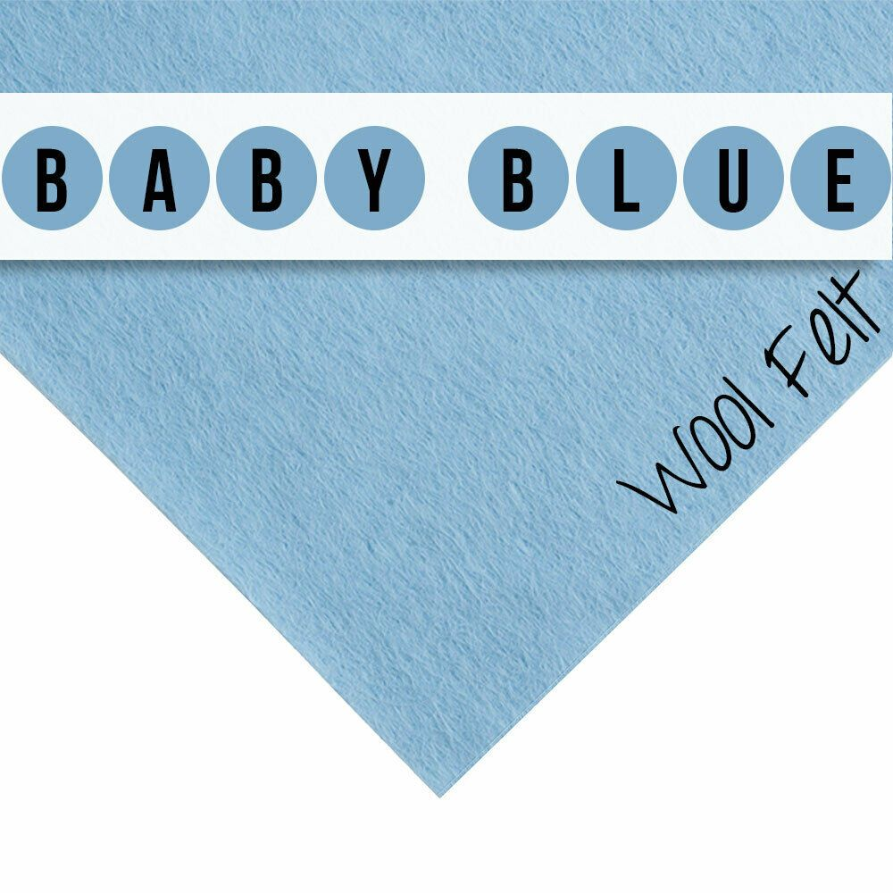 30% Wool Felt Square - Baby Blue - 12 Inch Square