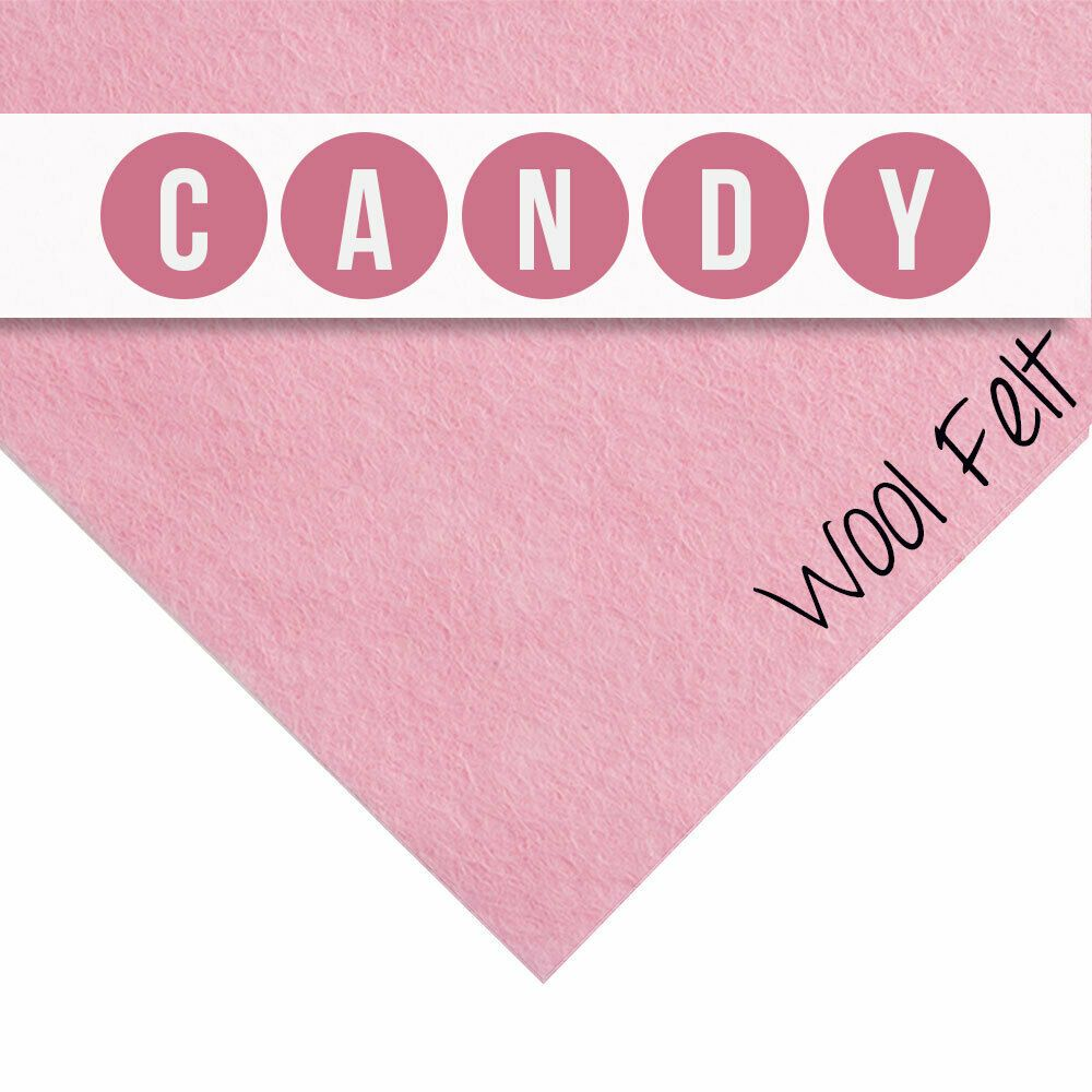 30% Wool Felt Square - Candy - 12 Inch Square