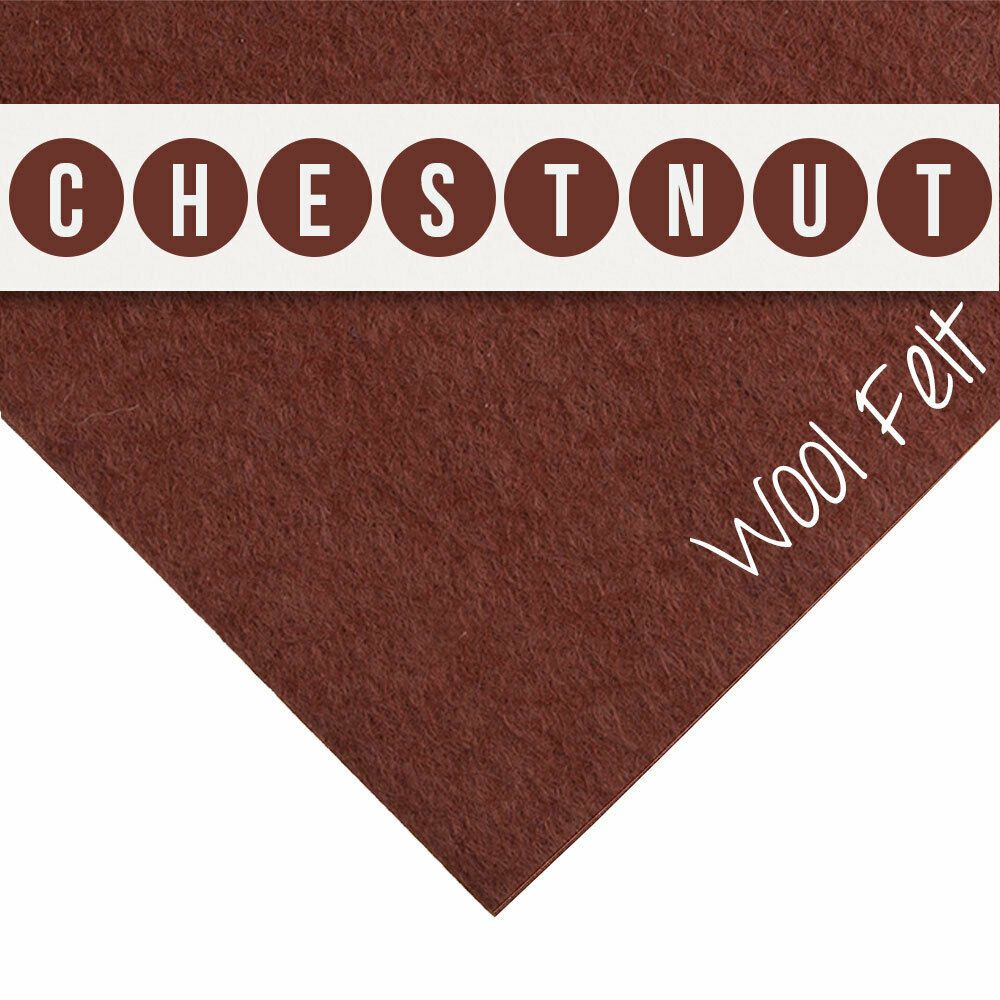 30% Wool Felt Square - Chestnut - 12 Inch Square