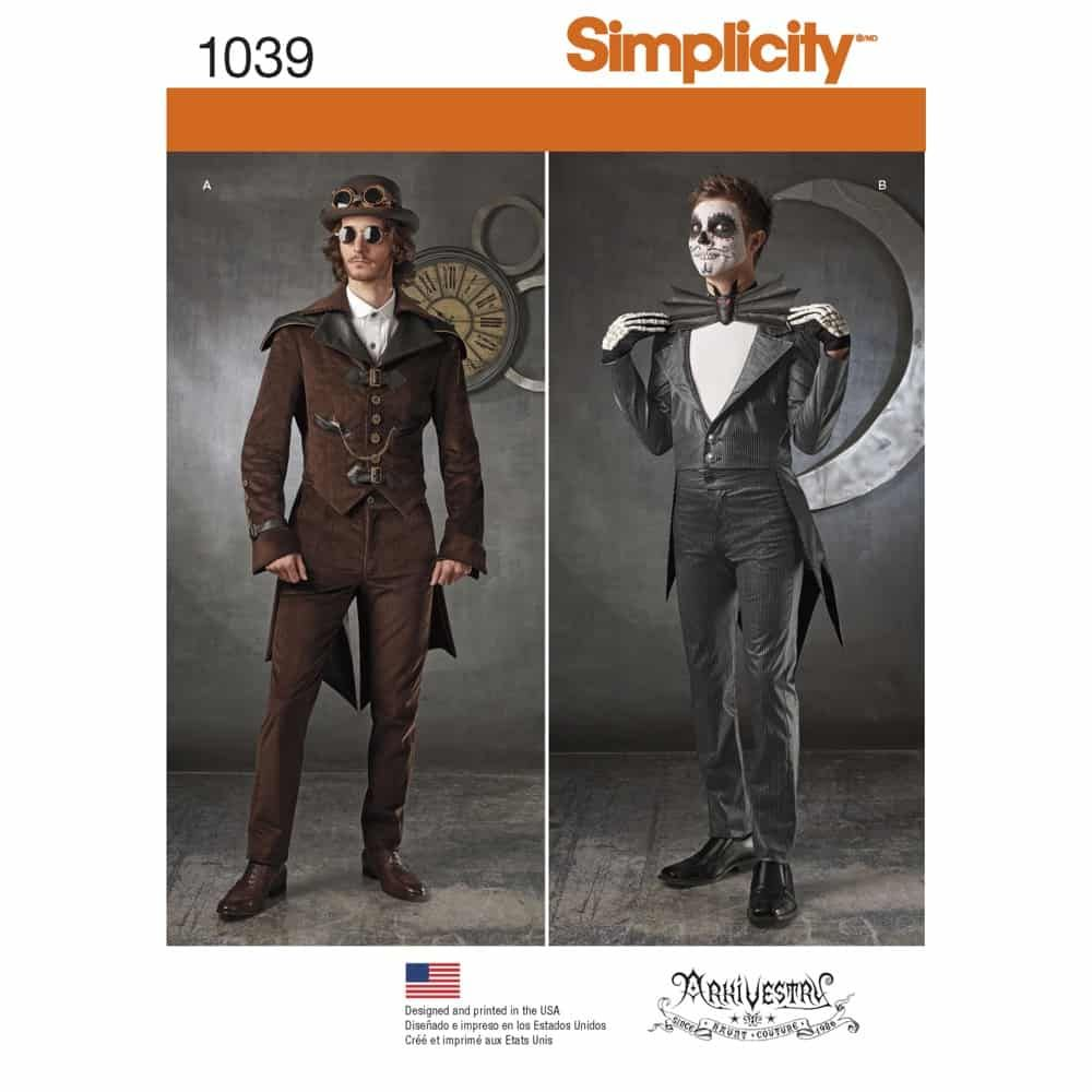Simplicity Sewing Pattern 1039 Mens Cosplay Costumes