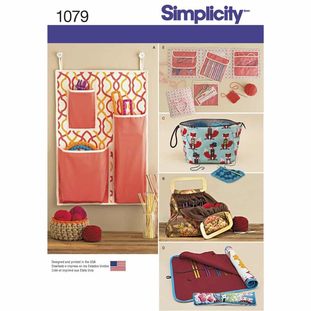 Simplicity Sewing Pattern 1079 Knitting and Crochet Storage Accessories