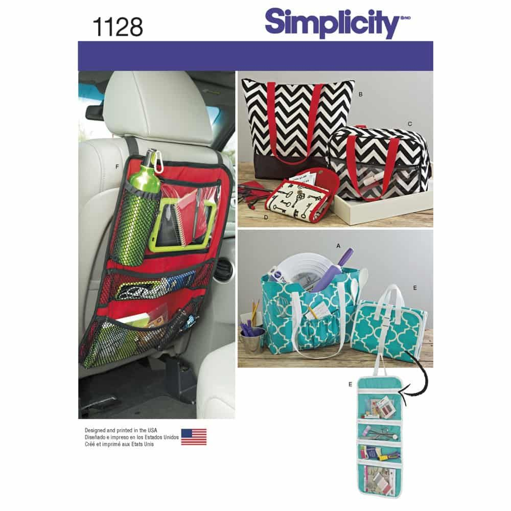 Simplicity Sewing Pattern 1128 Totes and Organizers