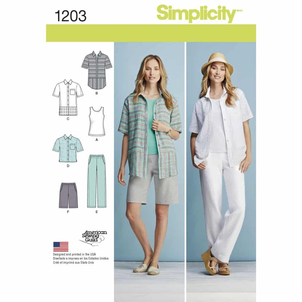 Simplicity Sewing Pattern 1203 Misses and Womens Sportswear Pattern
