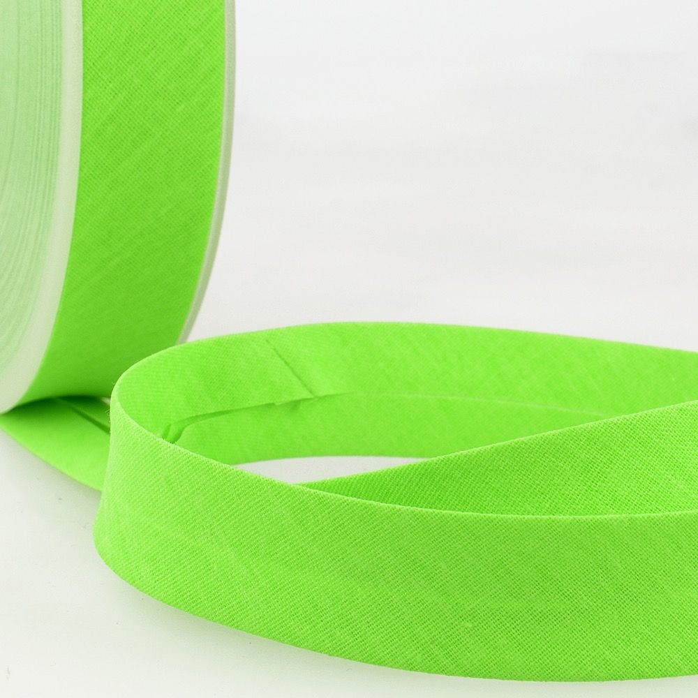 Stephanoise Fluorescent Bias Binding - 20mm Wide - Neon Green