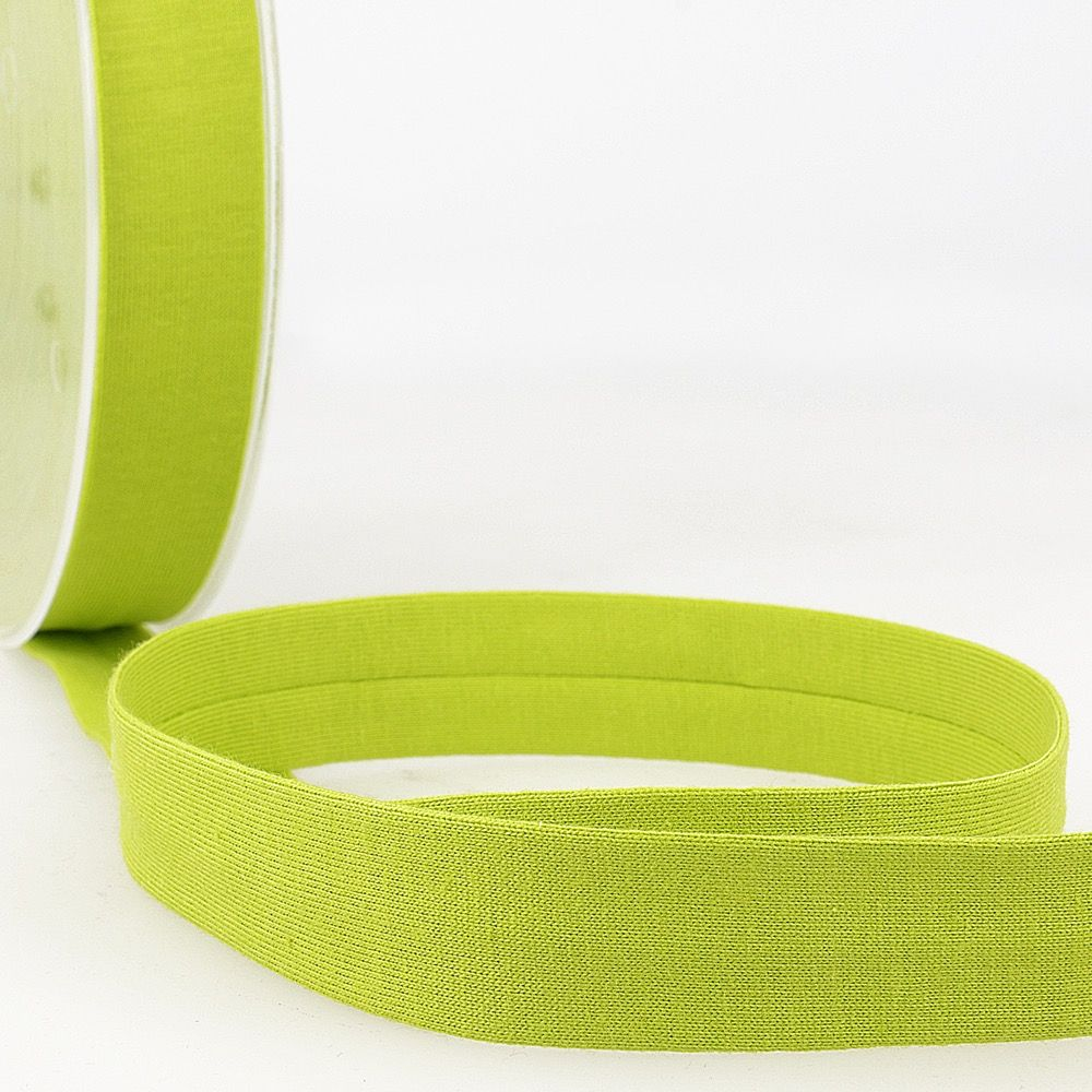 Stephanoise Plain Cotton Jersey Bias Binding - 20mm Wide - Anise Green