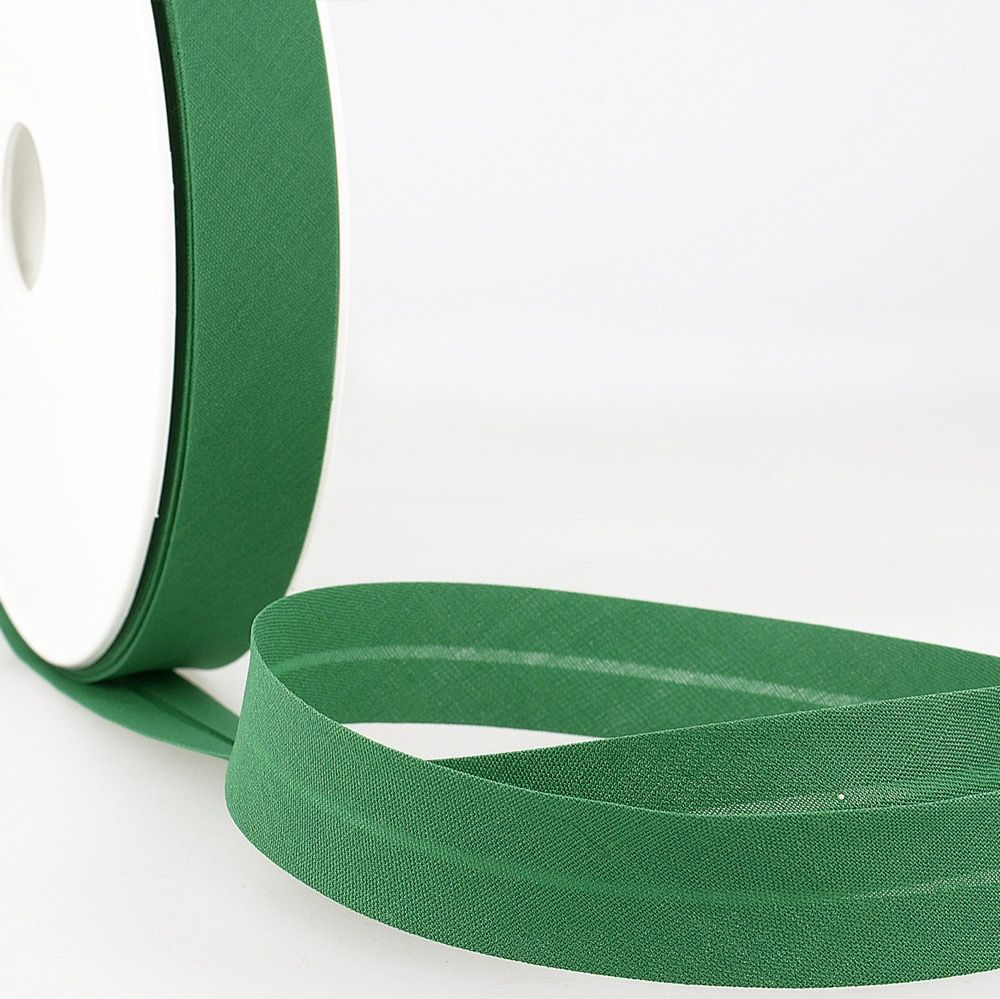 Stephanoise Plain Bias Binding - 50mm Wide - Kelly Green