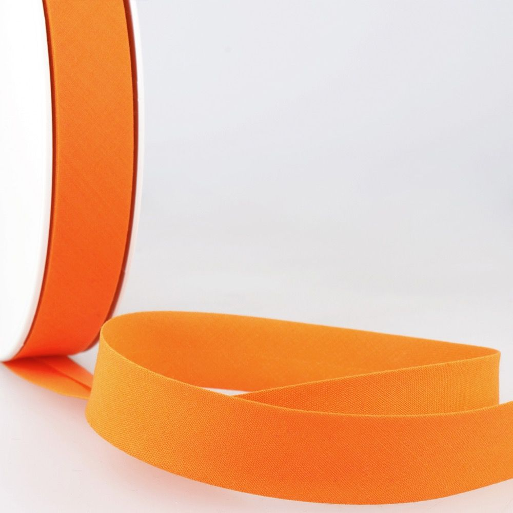 Stephanoise Plain Bias Binding - 20mm Wide - Kumquat