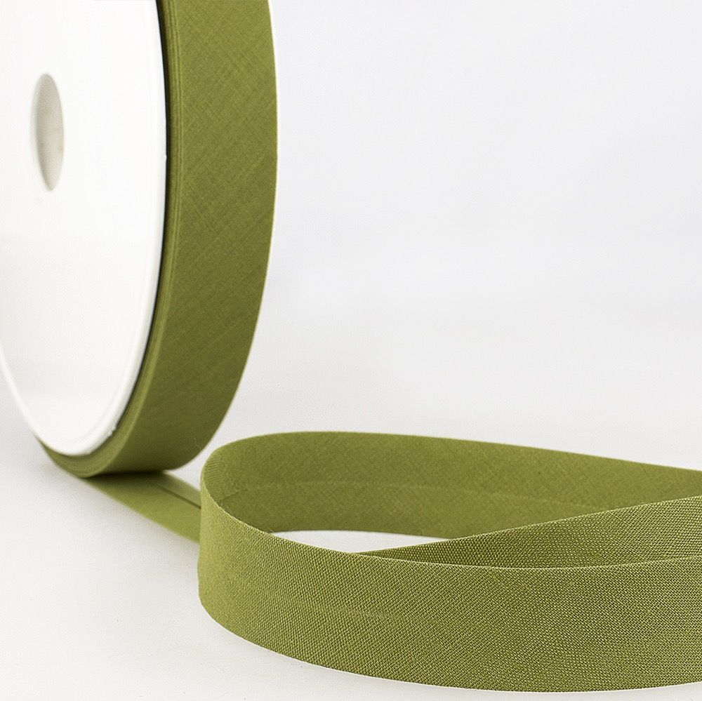 Stephanoise Plain Bias Binding - 50mm Wide - Kiwi